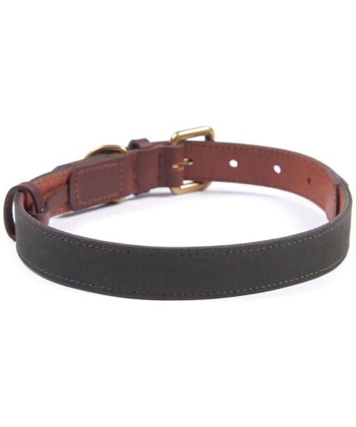 Barbour Wax Leather Dog Collar - Olive