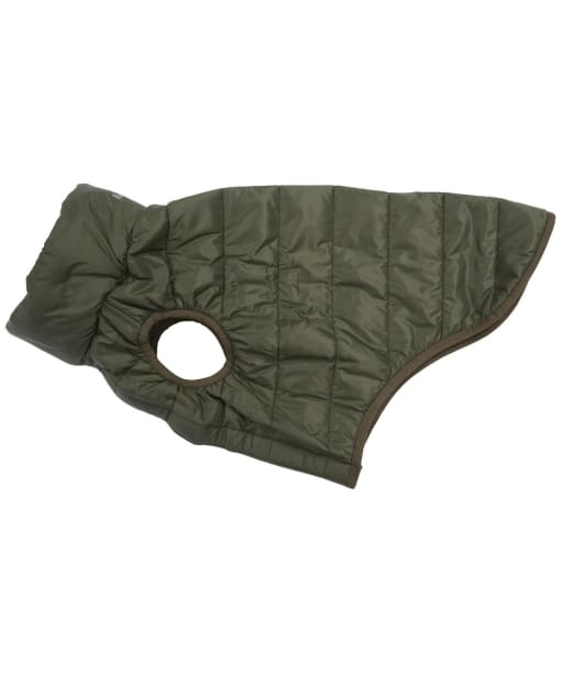Barbour Baffle Quilted Dog Coat - Olive