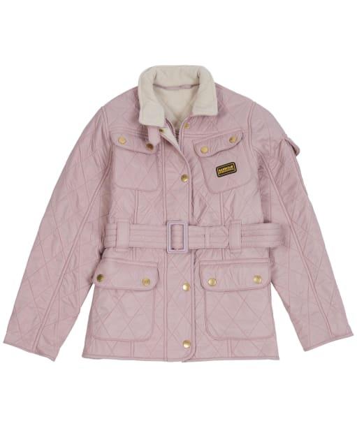 Girl's Barbour International Quilted Jacket, 10-15yrs - ROSE QUARTZ