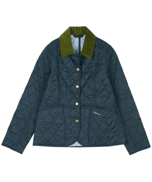 Girl's Barbour Summer Liddesdale Quilted Jacket, 2-9yrs - ISLE GREEN
