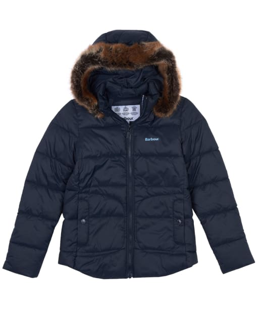 Girl's Barbour Dover Quilted Jacket, 6-9yrs - Dark Navy