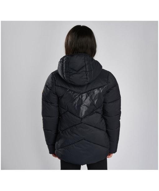 Girl's Barbour International Lydden Quilted Jacket - Black