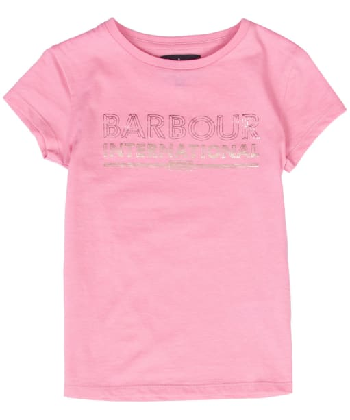 Girl's Barbour International Knockhill Tee - POP PINK
