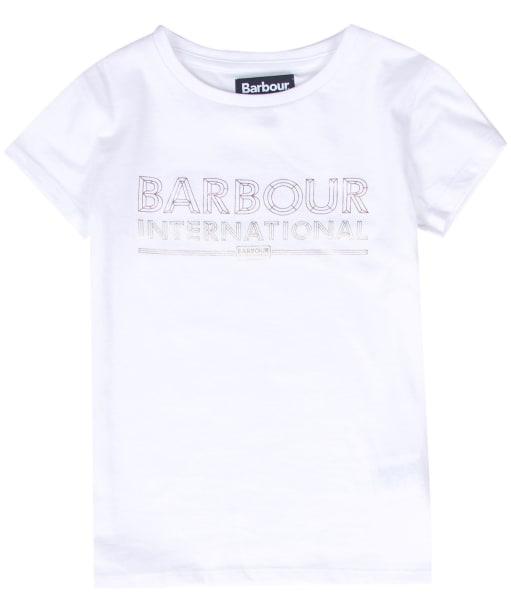 Girl's Barbour International Knockhill Tee - White