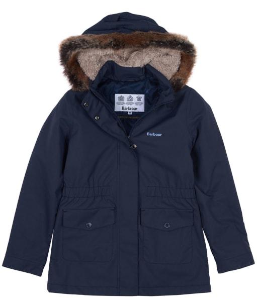Girls Barbour Bournemouth Waterproof Jacket, 6-9yrs - Dark Navy