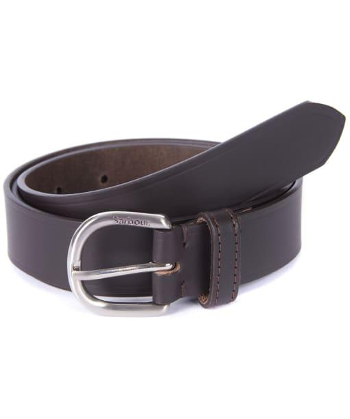 Women's Barbour Leather Belt - Dark Brown
