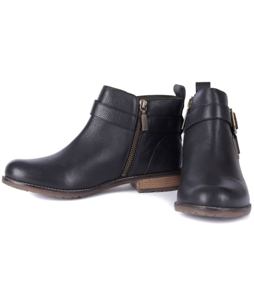 Women's Barbour Jane Leather Ankle Boots - New Black