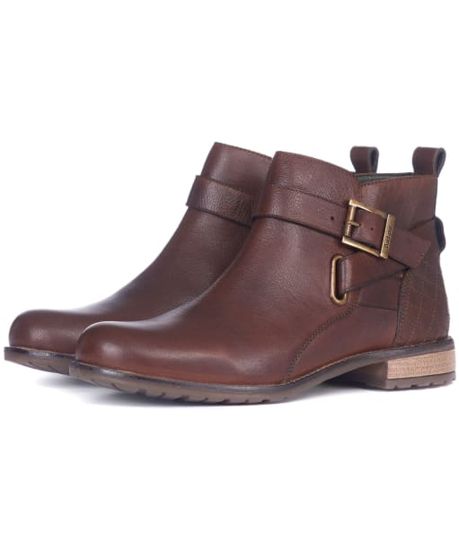 Women's Barbour Jane Leather Ankle Boots - Teak