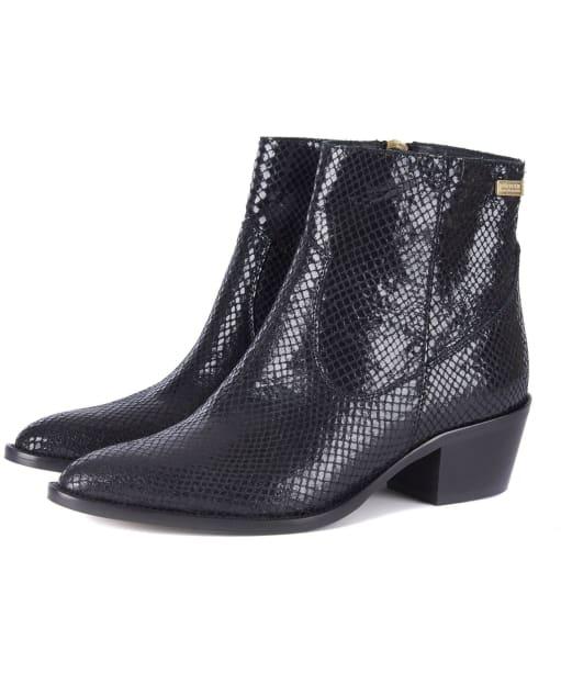 Women's Barbour International Isabel Boots - Black Snake