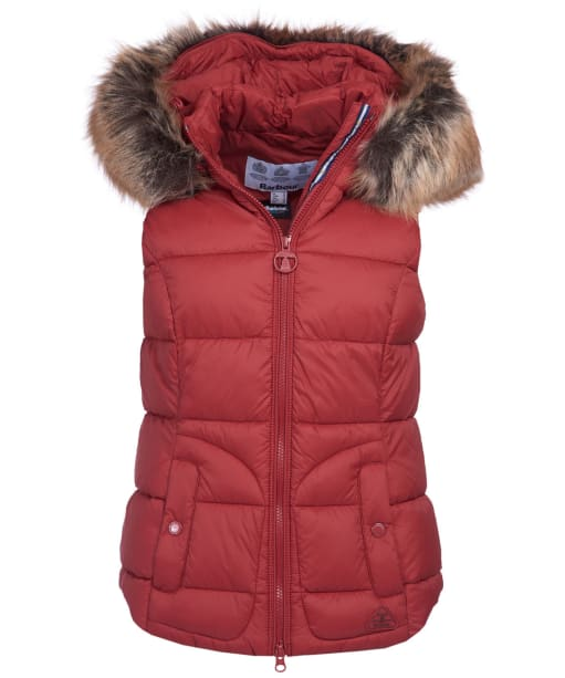 Women's Barbour Dover Gilet - Burnt Red