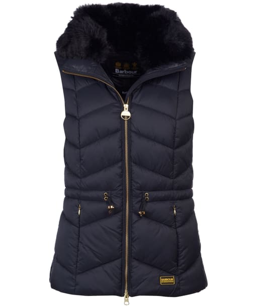 Women's Barbour International Halfback Quilted Gilet - Black