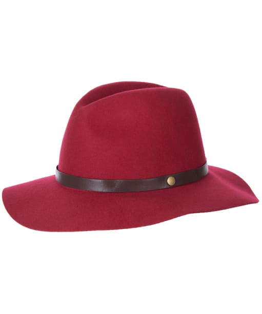 Women's Barbour Annadale Fedora Hat - ROSE RED
