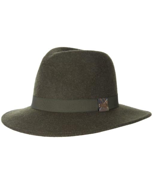 Women's Barbour Deveron Fedora Hat - Olive