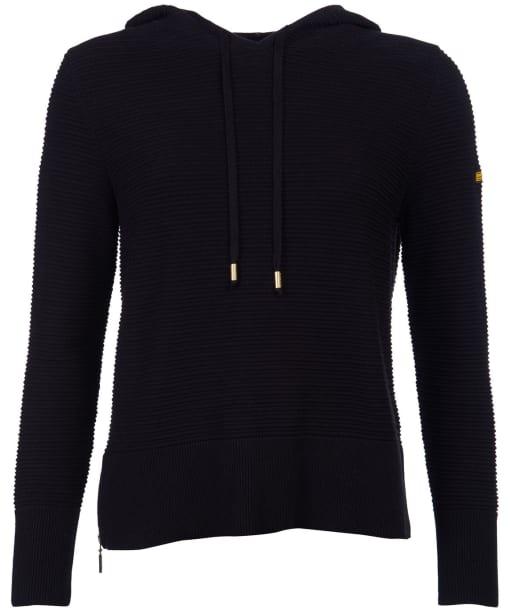Women's Barbour International Knockhill Hooded Knit - Black