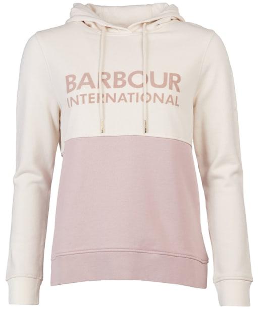 Women's Barbour International Goodwood Hooded Overlayer - Rose Quartz