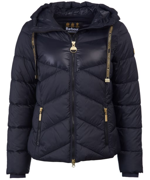 Women's Barbour International Lydden Quilted Jacket - Black