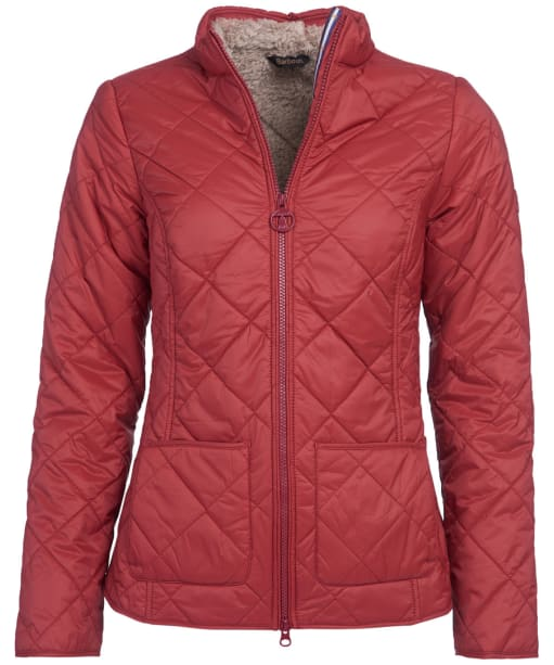 Women's Barbour Petrel Quilted Jacket - Burnt Red