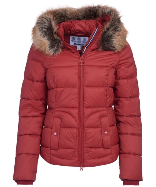 Women's Barbour Dover Quilted Jacket - Burnt Red