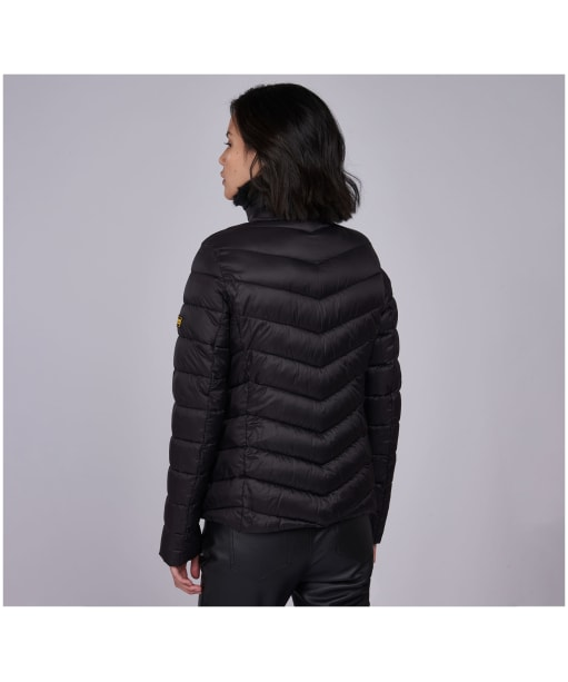 Women's Barbour International Sportsman Quilted Jacket - Black