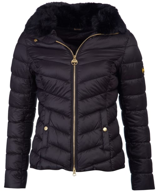 Women's Barbour International Sportsman Quilted Jacket - Black