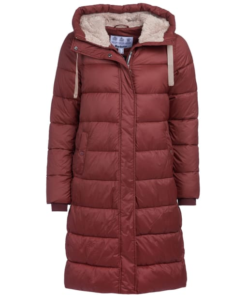 Women's Barbour Cassins Quilted Jacket - Chestnut