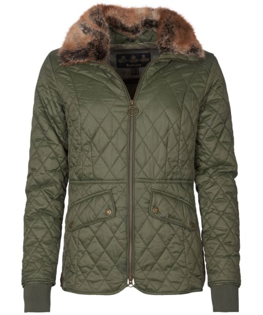 Women's Barbour Hawthorns Quilted Jacket - Olive