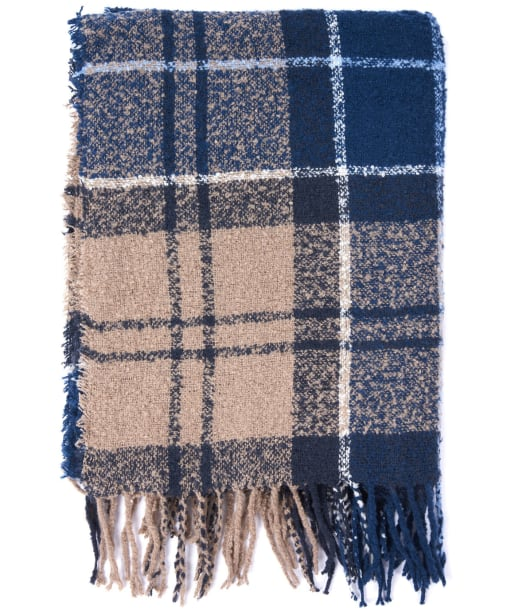 Women's Barbour Tartan Boucle Scarf - Blue Trench