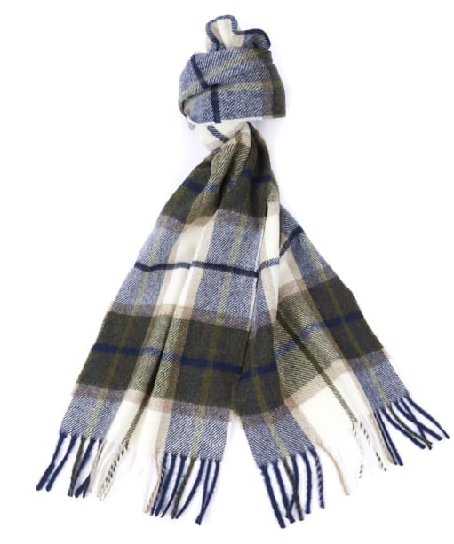 Women's Barbour Derwent Check Scarf - Forest/Pearl
