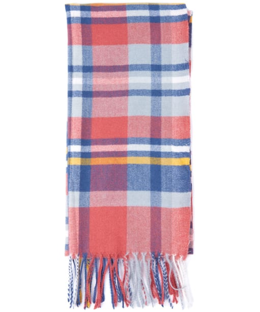 Women's Barbour Fairlead Check Scarf - Red / Navy / Grey