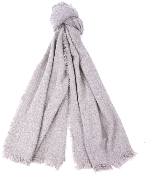 Women's Barbour Megan Boucle Wrap - Ash Grey