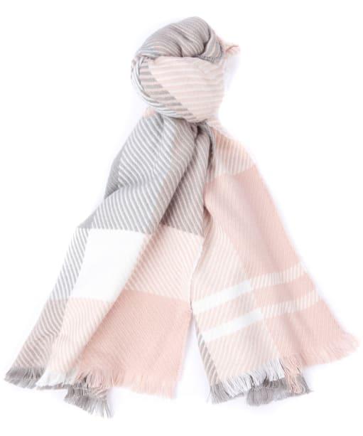 Women's Barbour Blair Tartan Scarf - Pink / Grey Tartan