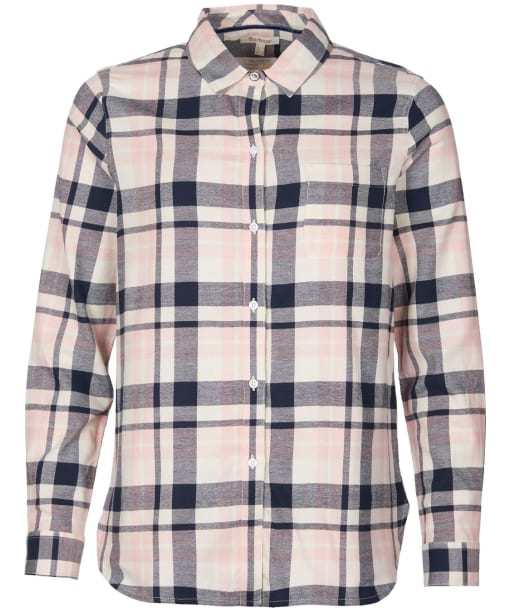 Women's Barbour Hedley Shirt - Navy / Pink Check