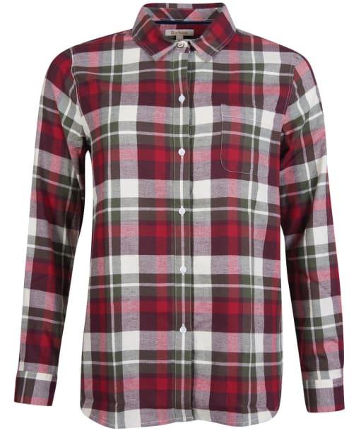 Women's Barbour Hedley Shirt - Blackberry Check