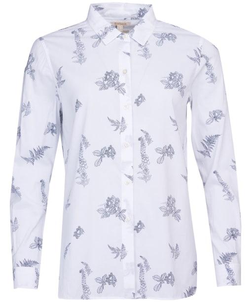 Women's Barbour Safari Shirt - Off White Print