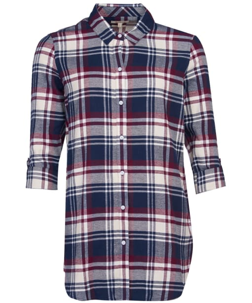 Women's Barbour Windbound Shirt - Blackberry Check