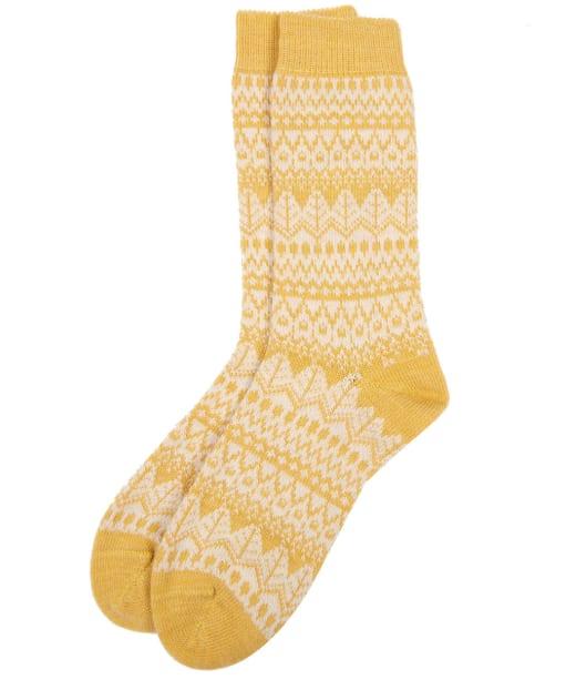 Women's Barbour Alpine Fairisle Socks - Golden Spice
