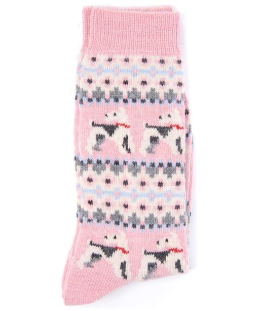 Women's Barbour Terrier Fairisle Socks - Pink