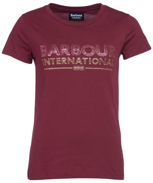 Women's Barbour International Knockhill Tee - Port