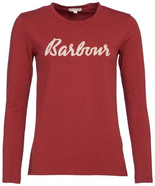 Women's Barbour Rebecca L/S Tee - Burnt Red