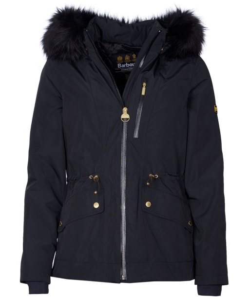 Women's Barbour International Sweeper Waterproof Jacket - Black