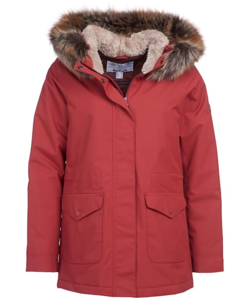 Women's Barbour Bournemouth Waterproof Jacket - Burnt Red