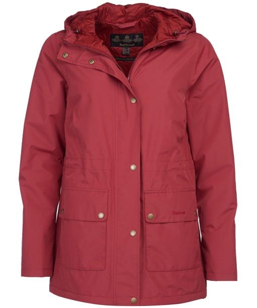 Women's Barbour Oak Waterproof Jacket - Burnt Red