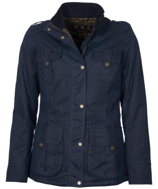 Women's Barbour Winter Defence Waxed Jacket - Navy