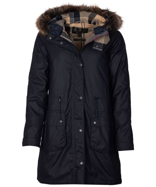 Women's Barbour Mull Waxed Jacket - Navy
