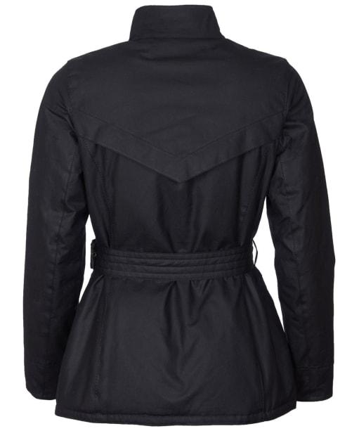 Women's Barbour Montgomery Waxed Jacket - Black