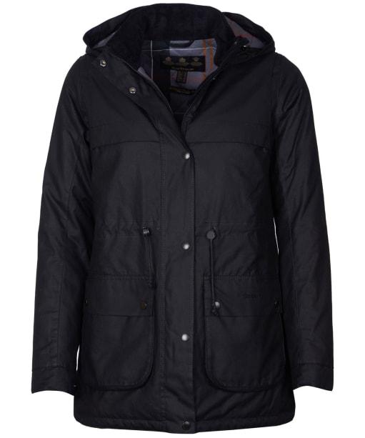 Women's Barbour Cassley Waxed Jacket - Black
