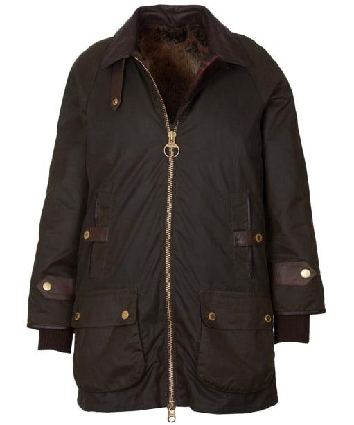 Women's Barbour Norwood Waxed Jacket - Olive