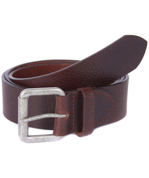 Men's Barbour Grain Leather Belt - Brown
