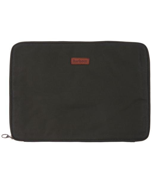 Barbour Aydon Laptop Organiser - Olive / Brown