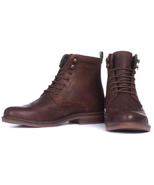 Men's Barbour Seaton Derby Shoes - Teak
